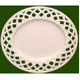 Leeds Pottery Creamware Pierced Lattice Plate