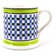 Leeds Pottery Mochaware Blue Chequer Mug