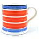 Leeds Pottery Mochaware Coral Stripe Mug