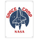 NASA Space Camp Small Metal Wall Sign
