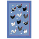 Samuel Lamont Hens Linen Union Tea Towel